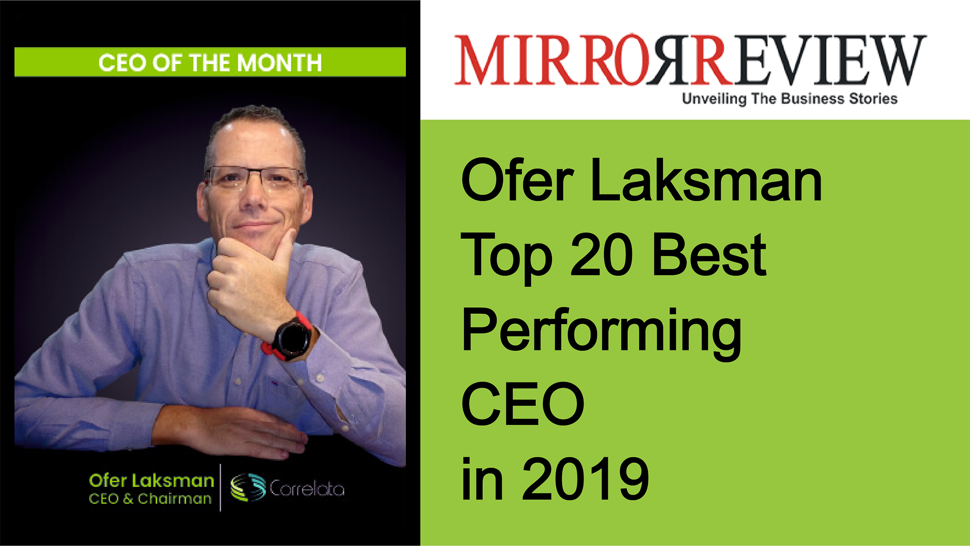Our CEO Made the Cover of Mirror Review – We are Incredibly Honored!